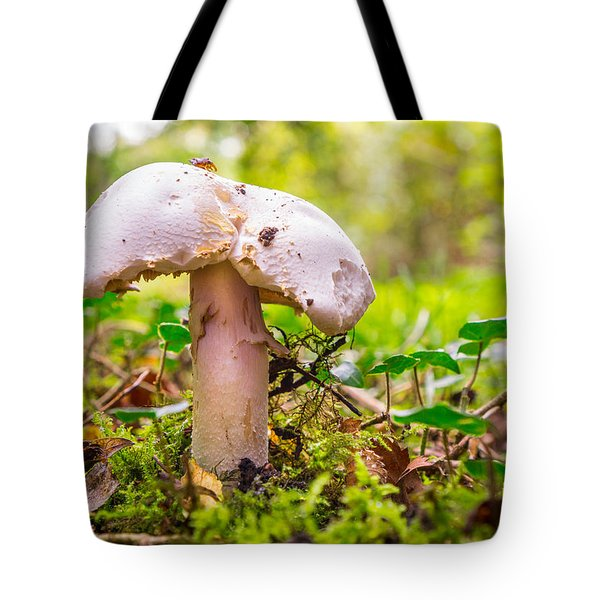 Tote Bag featuring the photograph Mushroom by Gary Gillette