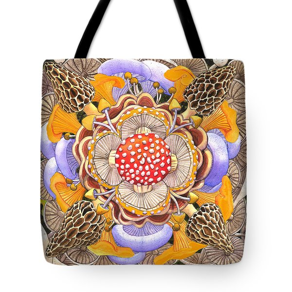 Mushroom Mandala Tote Bag