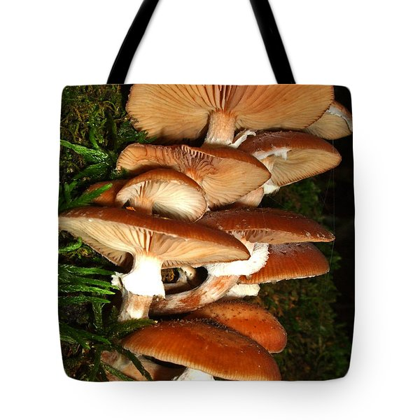 Tote Bag featuring the photograph Mushrooms 015 by George Bostian