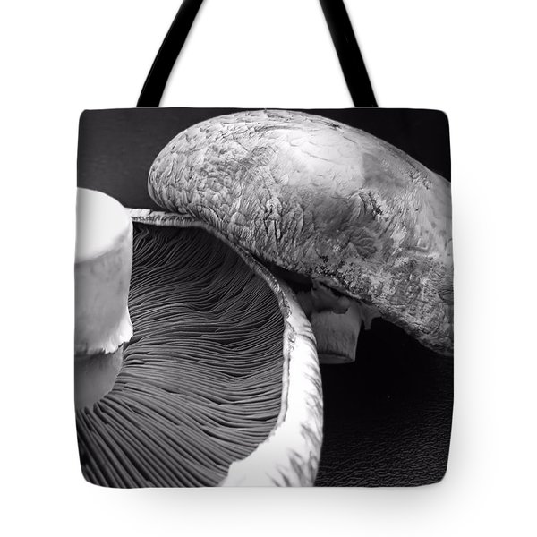 Mushrooms In Black And White Tote Bag