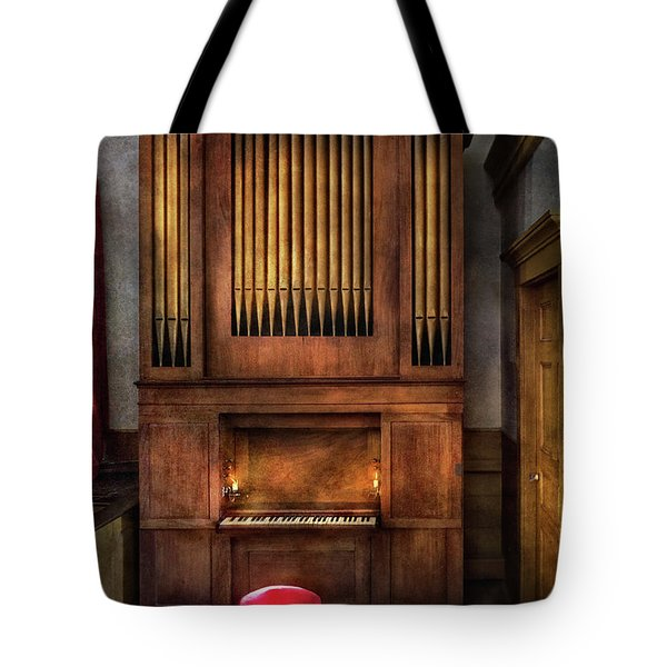 Music - Organist - What A Big Organ You Have  Tote Bag by Mike Savad