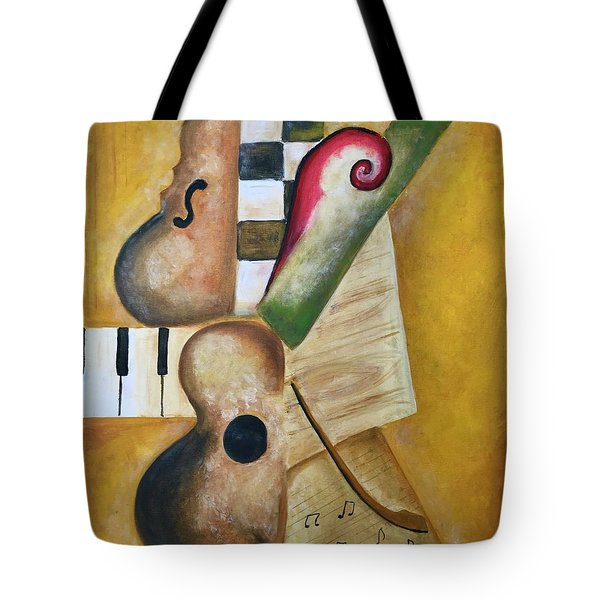 Music Abstract  Tote Bag