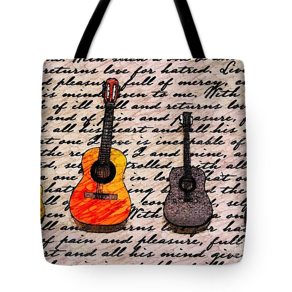 Music And Poetry By Jasna Gopic Tote Bag by Jasna Gopic