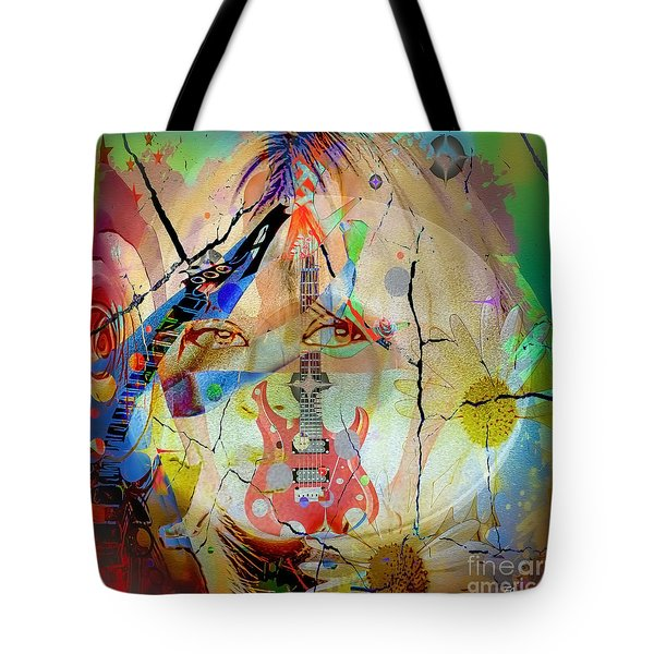 Tote Bag featuring the digital art Music Girl by Eleni Mac Synodinos