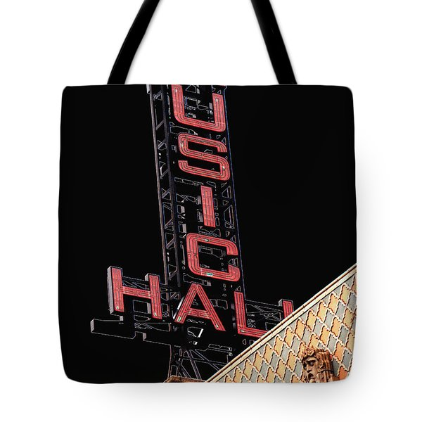 Music Hall Sign Tote Bag