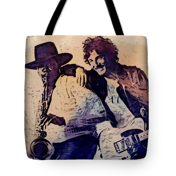 Music Icons - Bruce Springsteen IIi Tote Bag