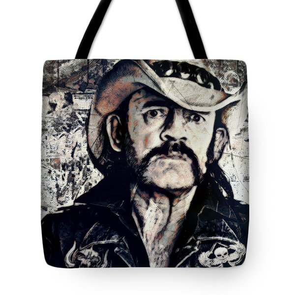 a8d19e6a960ce Music Icons - Lemmy Kilmister Front Tote Bag