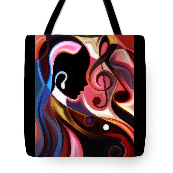 Music In The Air Tote Bag by Karen Showell
