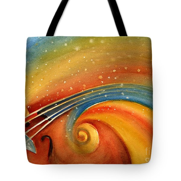 Music In The Spirit Tote Bag by Allison Ashton