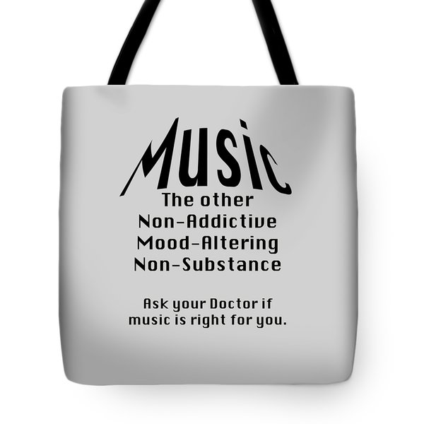 Music Is Right For You 5502.02 Tote Bag