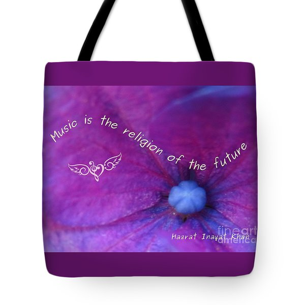 Music Is The Religion Of The Future Tote Bag by Agnieszka Ledwon