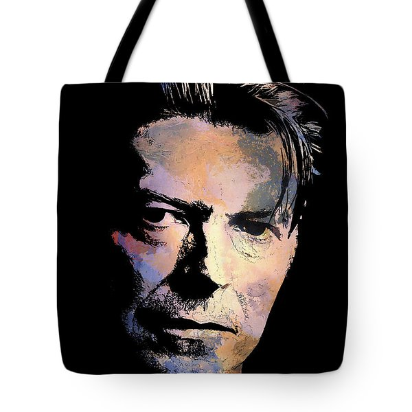 Tote Bag featuring the painting Music Legend 2 by Andrzej Szczerski