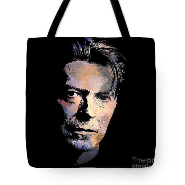 Tote Bag featuring the painting Music Legend. by Andrzej Szczerski