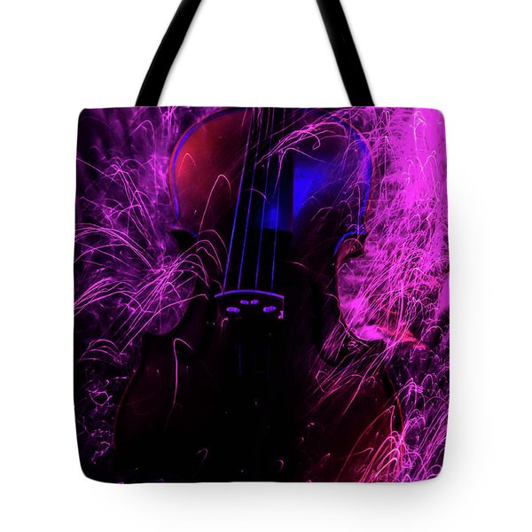 Music Light Painting  Tote Bag
