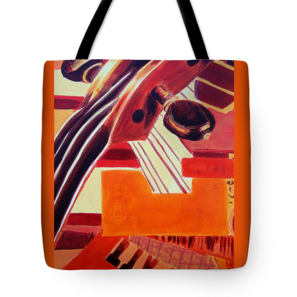 Tote Bag featuring the painting Music by Maria Langgle