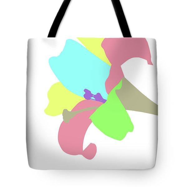 Tote Bag featuring the digital art Music Notes 12 by David Bridburg