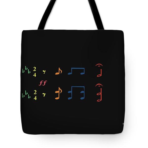Tote Bag featuring the digital art Music Notes 35 by David Bridburg