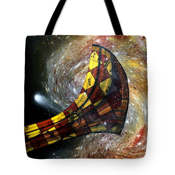 Music Of The Cosmos Tote Bag by RC deWinter