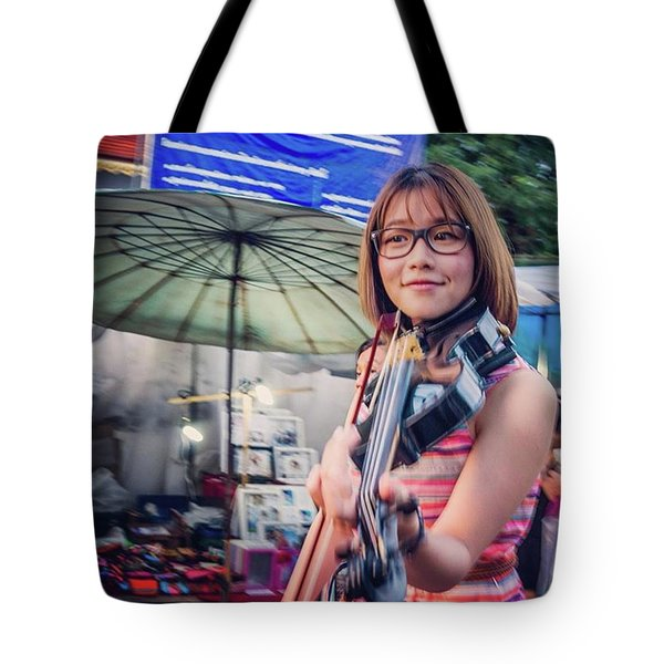 Music On The Streets, Chiang Mai Tote Bag by Aleck Cartwright