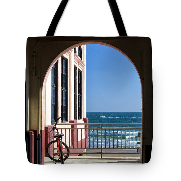 Music Pier Doorway View Tote Bag