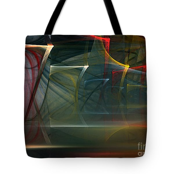 Tote Bag featuring the digital art Music Sound by Karin Kuhlmann