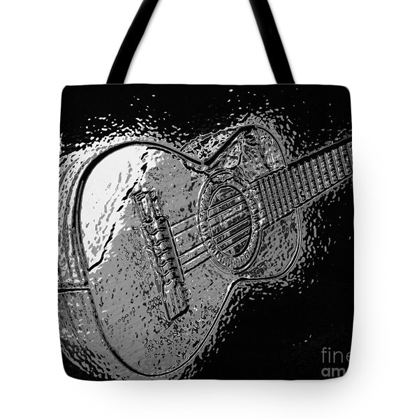Musica With Chrome Effect Tote Bag