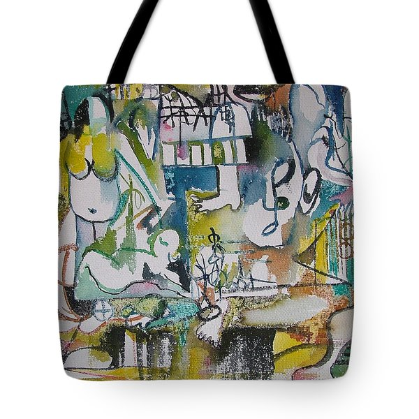 Musical Abstraction  Tote Bag by Rita Fetisov