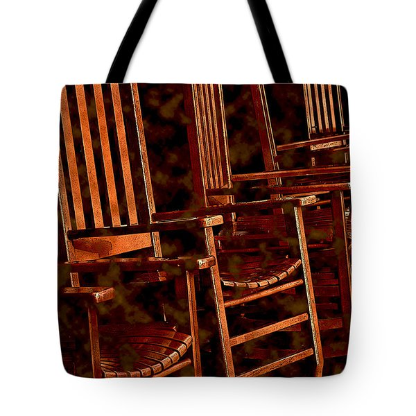 Musical Chairs Tote Bag