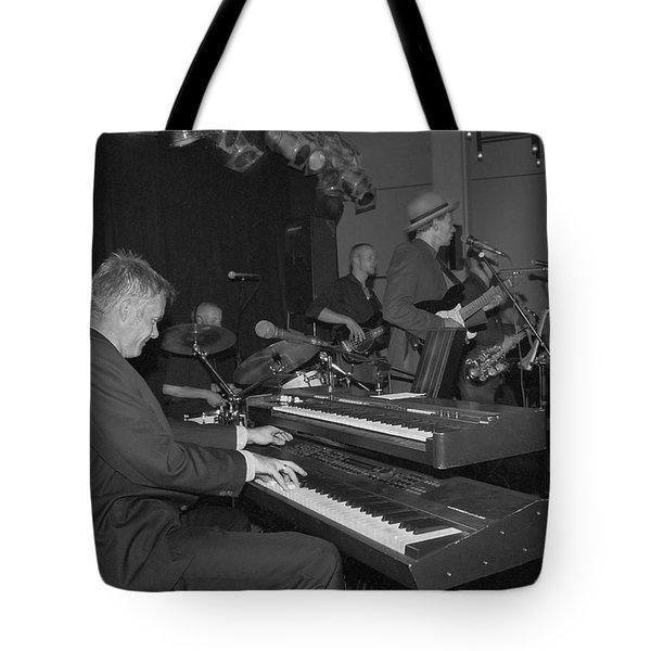 Musical Jazz Band Tote Bag