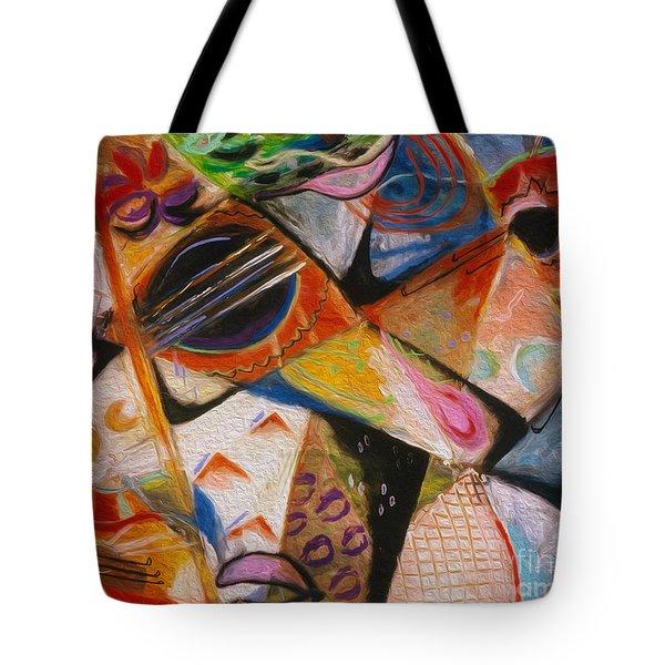 Musical Pastels Tote Bag