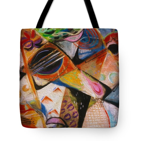 Musical Pastels Tote Bag