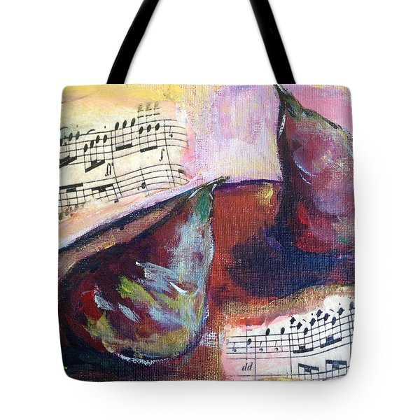 Musical Pears Tote Bag