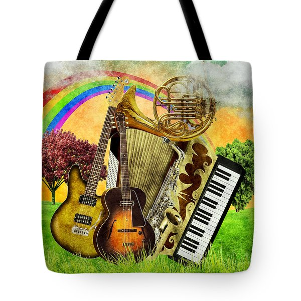 Musical Wonderland Tote Bag by Ally White