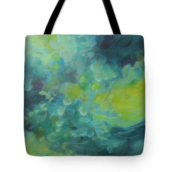 Tote Bag featuring the painting Musing 117 by Elis Cooke
