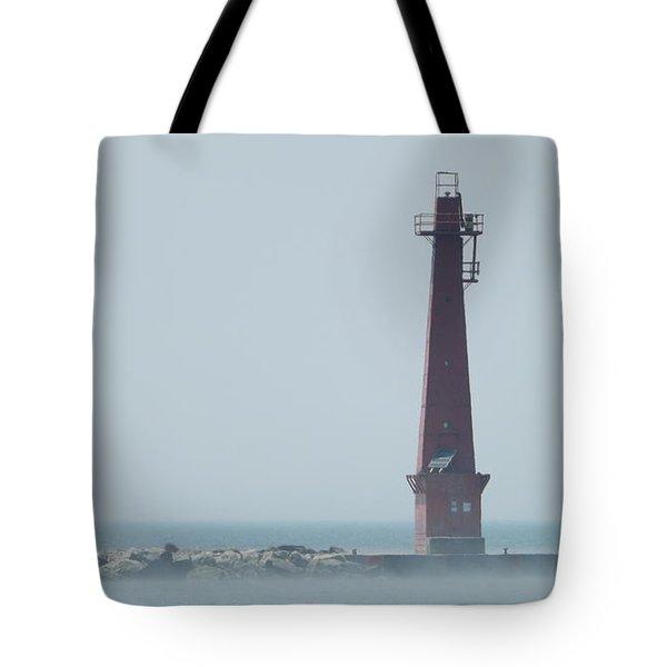 Muskegon South Pierhead Tote Bag