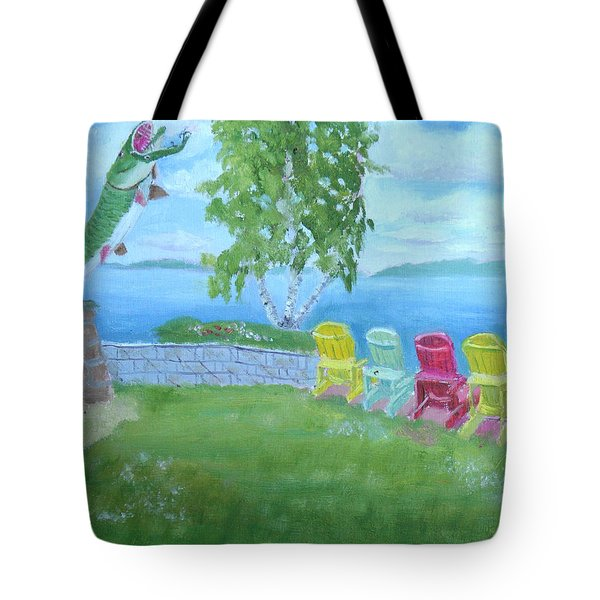 Muskellunge Sculpture Clayton Ny Tote Bag