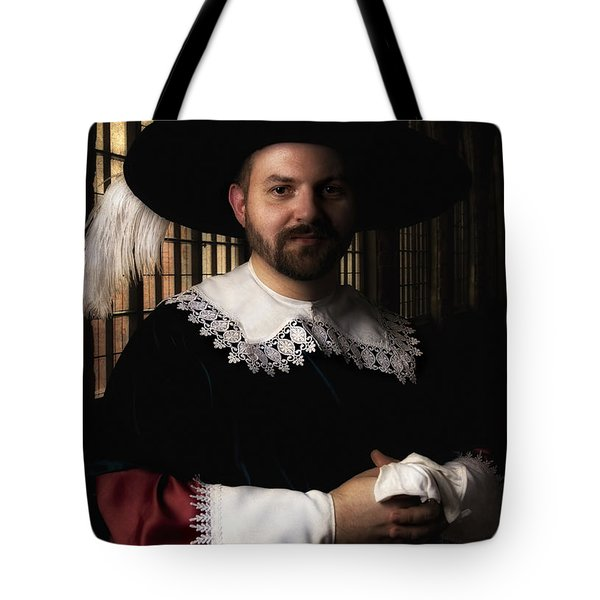 Musketeer In The Old Castle Hall Tote Bag