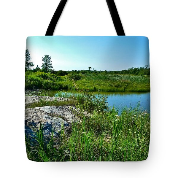 Muskoka Ontario 4 Tote Bag by Claire Bull