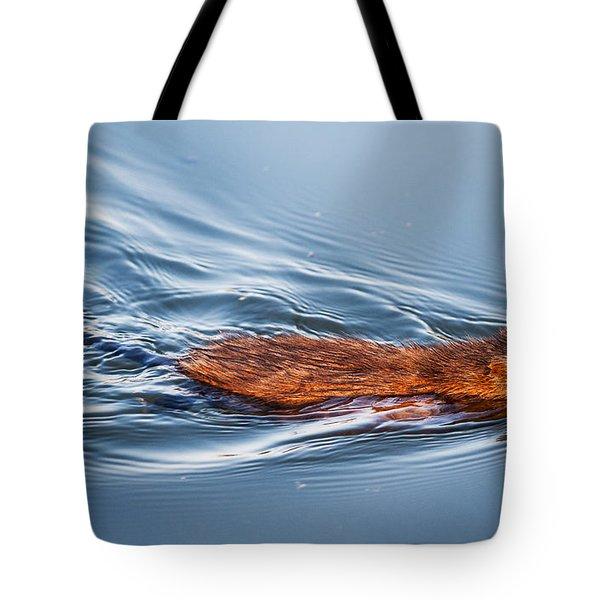 Muskrat Speed Swiming Tote Bag