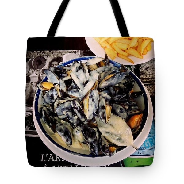 Mussels At France Tote Bag