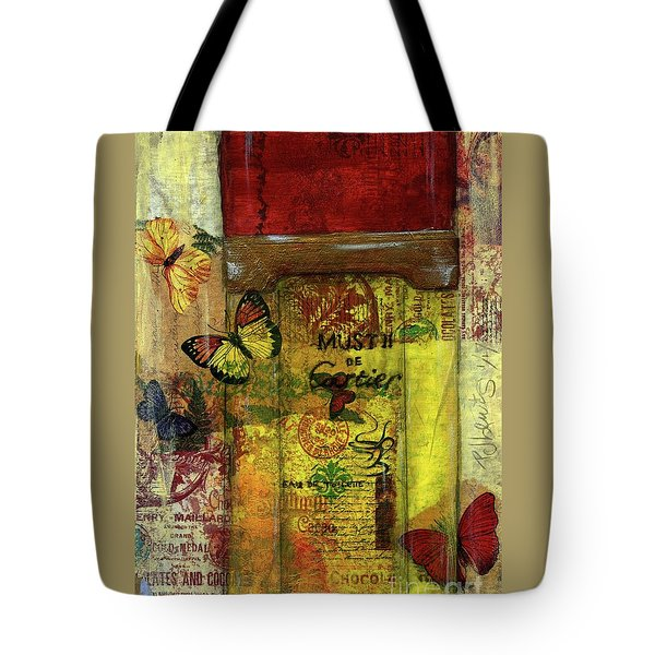 Tote Bag featuring the painting Must De Cartier by P J Lewis