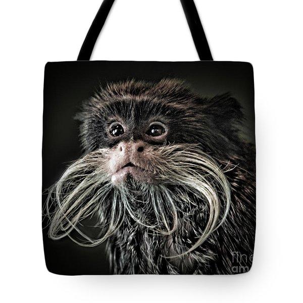 Mustache Monkey IIi Altered Tote Bag