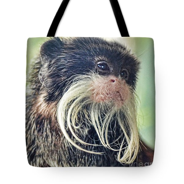 Mustache Monkey Watching His Friends At Play Tote Bag