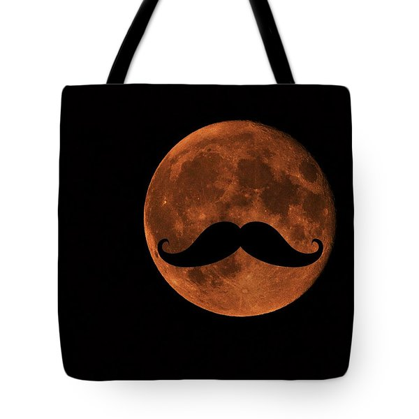 Mustache Moon Tote Bag