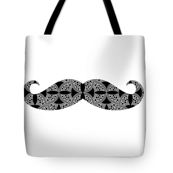 Tote Bag featuring the digital art Mustache Tee by Edward Fielding