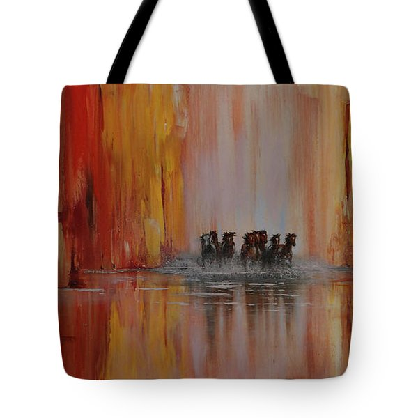 Mustang Canyon Tote Bag by Karen Kennedy Chatham