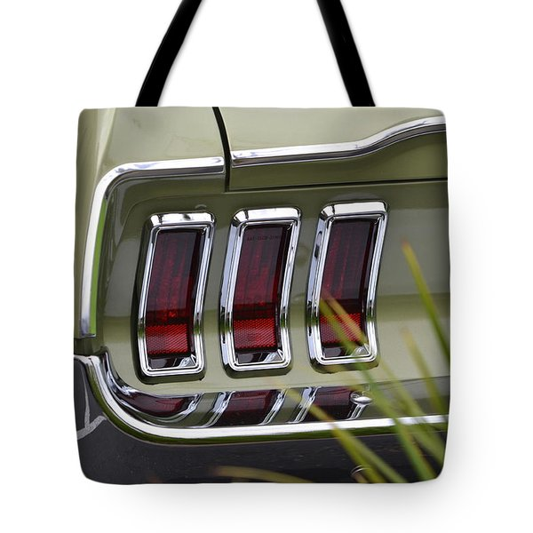 Mustang Fastback In Green Tote Bag by Dean Ferreira