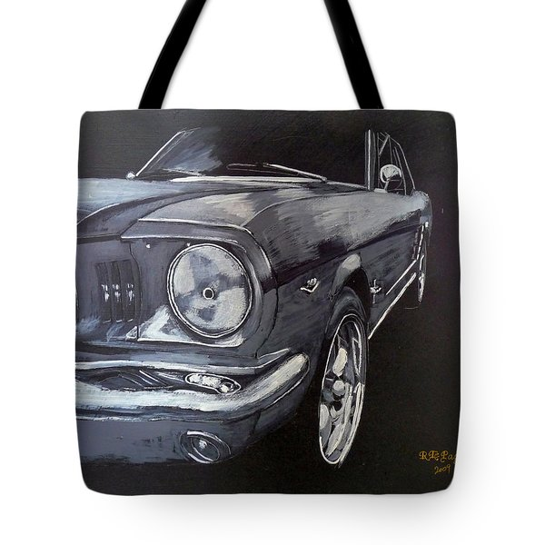 Tote Bag featuring the painting Mustang Front by Richard Le Page