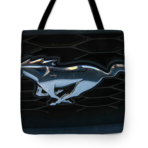 Tote Bag featuring the photograph Mustang Grill by Robert Hebert