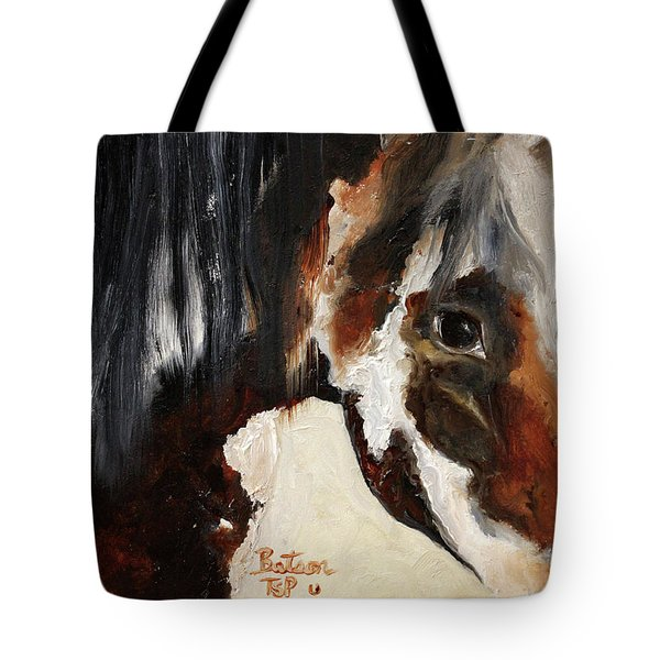 Mustang In My Heart Tote Bag by Barbie Batson